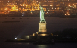 Here is a night time shot of the Statue of Liberty from the building the class was in. I was surprised at the result.