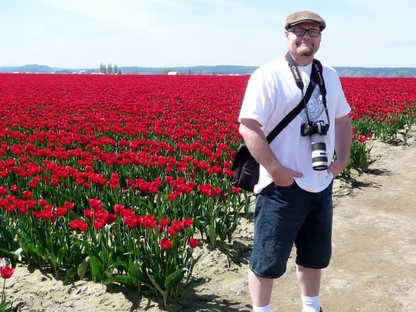 My at the Skagit Valley Tulip Festival